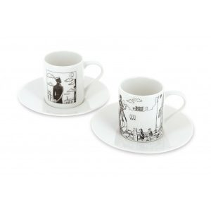 Set di due tazzine da caffè Corto Maltese