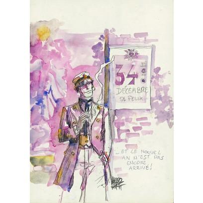 Cartolina di Corto Maltese di Hugo Pratt
