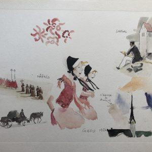 Litografia le Elvetiche di Hugo Pratt - n. 2