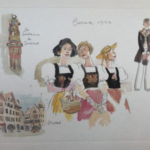 Litografia le Elvetiche di Hugo Pratt - n. 1