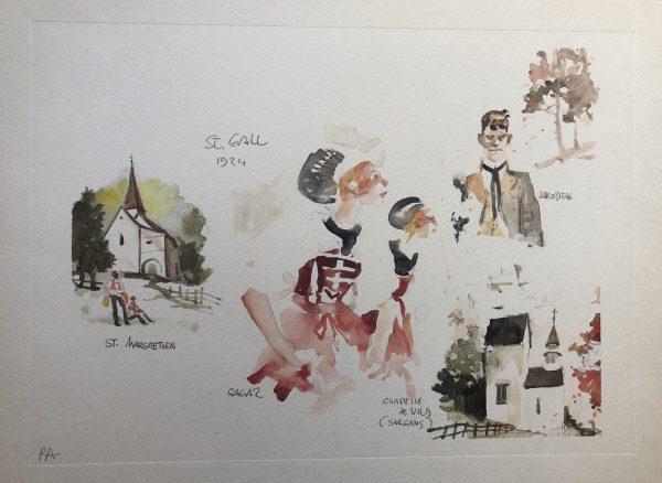 Litografia le Elvetiche di Hugo Pratt - n. 3