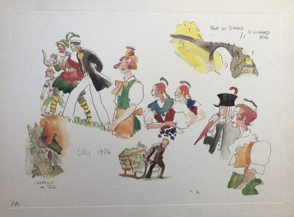Litografia le Elvetiche di Hugo Pratt - n.4